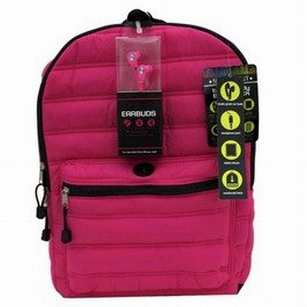FAB Starpoint Hot Pink Backpack Sport School Travel Tech Ready Earbuds Back Pack