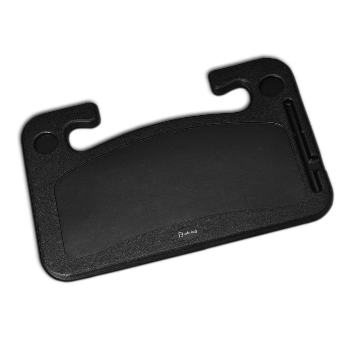 Zento Deals Car Steering Wheel Food/Laptop Tray Convenient Stand Table/Desk Car Multi-purpose Black