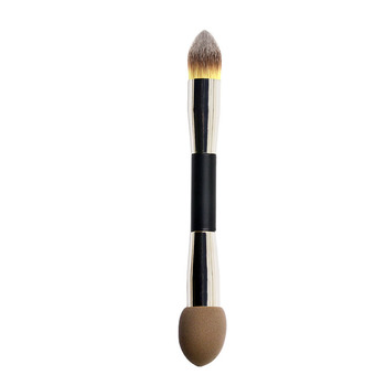 Double Sided Synthetic Hair Liquid Foundation Makeup Brush With Makeup Sponge