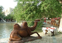 Home or garden decoration bronze and copper camel animal sculpture