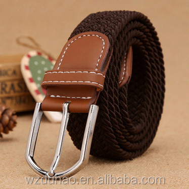 Customized Color Golf Elastic Ployester Fabric Mens Belt With Cheap price