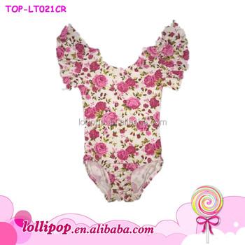 745d49882 Leotard For Girl Kids Gymnastics Leotard Fabric Floral Flutter ...