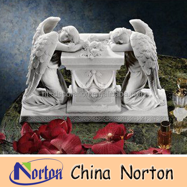 natural life size hand carved marble angle statue NTMS210R