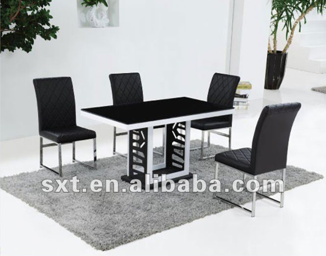 Latest Dining Table Designs Latest design metal glass top dining table modern, View latest designs of dining  tables, SXT Product Details from Hebei Shuangxinte Furniture Co., ...