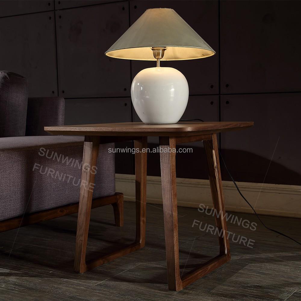 Beroemde merk en moderne ontwerp vier benen hout thee tafel ...