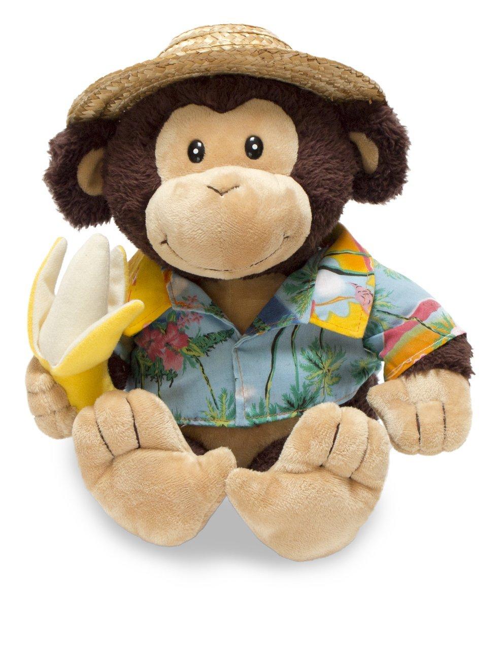 Cuddle Barn Animated Plush Toy Monkey Banana Boat Bruno Sings Day O
