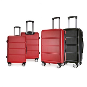 High quality ABS PC hard shell spinner 4 wheels trolley bags custom travel trolly suitcase