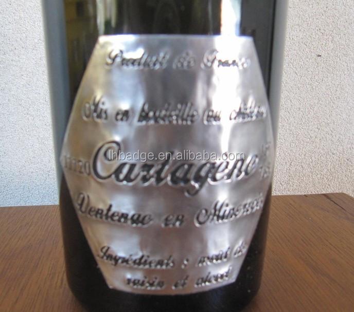 Chateau Ventenac Cartagene Engraved Pewter Wine Bottle