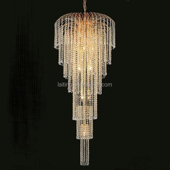 Mdoern Kristal Stair Chandelier Entrance Lamp For High Ceiling Buy