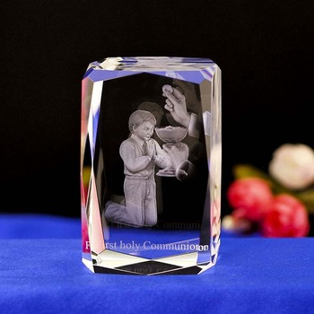 K9 crystal religion gifts 3d laser engraving crystal cube