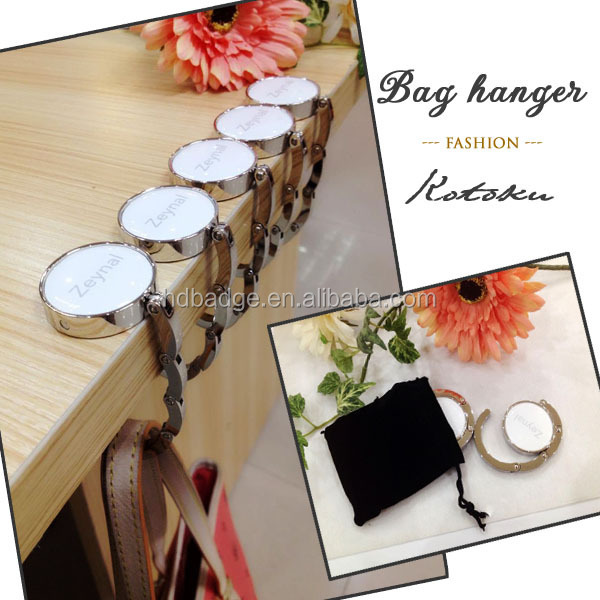 Awesome Zinc Alloy Material Purse Hook / Bag Hanger Hook / Table Top Bag Hanger