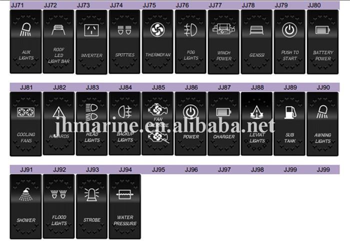 4 pin illuminated arb Marine Rocker Switch Labels for Car/Truck/RV, View  marine rocker switch, JH Product Details from Ningbo Jinhong Electronic  Co ,