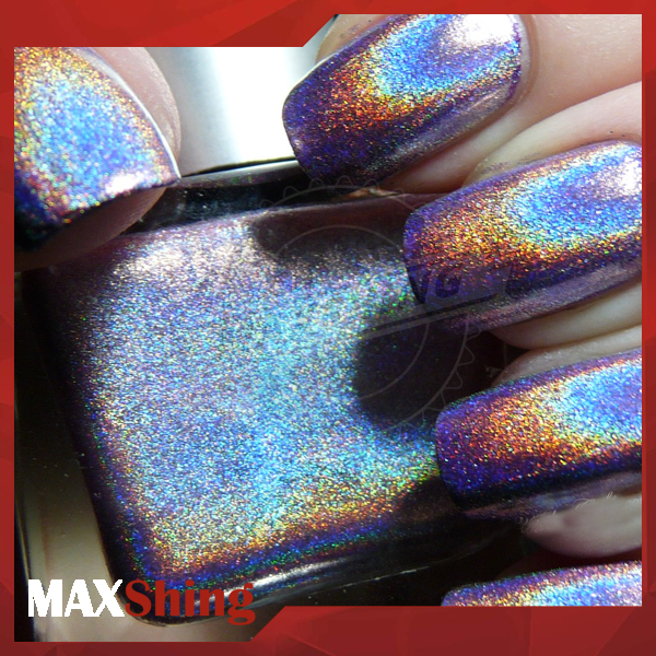 Holographic Rainbow Nails Effects Powder, Ultra Fine Chrome Powder Pigment Polish Kit