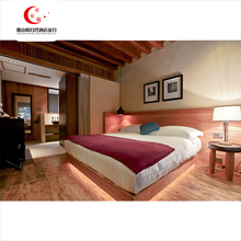 Environmentally Commercial Custom Hotel Room Furniture With King Size Bed