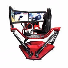 3 Screens Racing Car Simulator 6 DOF Video Racing Game