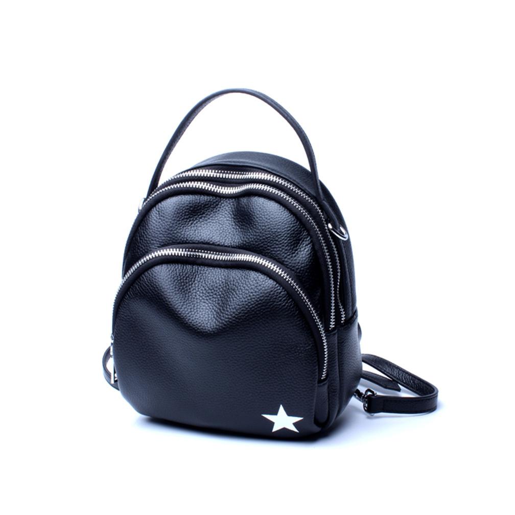 Fashion Mini Designer Black Small Leather Backpack Purse For Women ... dc047da8f1