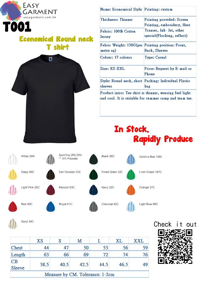 Economical Round neck T shirt/Custom Design Talior made Logo Printing O neck T-Shirt