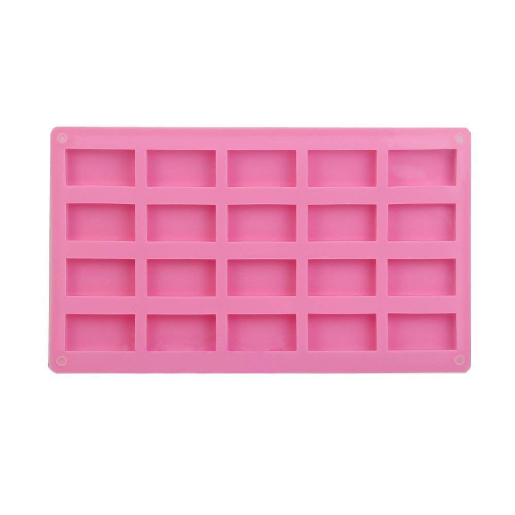 Cupcake Molds - TOOGOO(R) Silicone Mould Mold Ice Cube Tray Chocolate Cake Muffin Soap Cupcake Molds DIY Pink(Twenty - Rectangle)