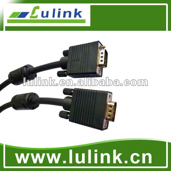 HD15pin male to male VGA svga monitor cable
