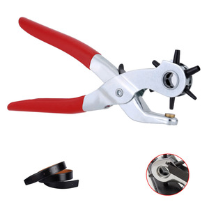 Hole Punching Machine 9'' Punch Plier Round Hole Perforator Tool Make Hole Puncher for Watchband