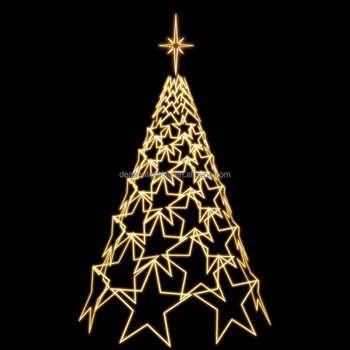 outdoor led lighted christmas tree