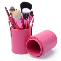 Pinpai brand 12pcs/set Cosmetic Makeup Brushes Set Make up Tool With Leather Cup Holder