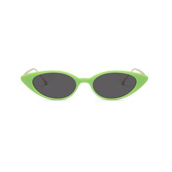 d76022fe1e00d New Único Pequeno Olho De Gato Óculos De Sol Das Mulheres Designer de Marca  Clássica Oval