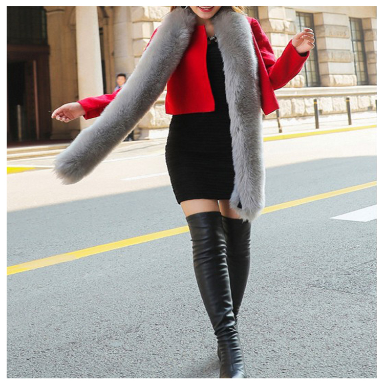Fur twist lady collar scarf rabbit hair fox fur scarf