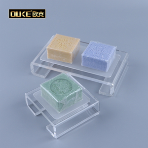 Cheap Clear Decoration Accessories Plastic Acrylic Soap Dish