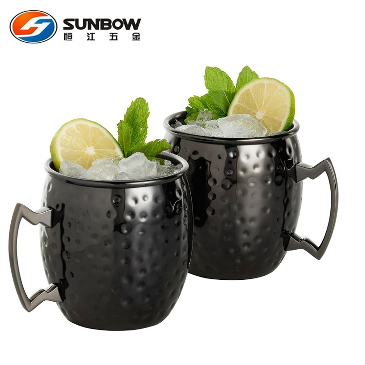 Hot Selling Hammered Stainless Steel Moscow Mule Mug