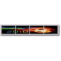 "5"" Inch shelf LCD display bar strip advertising media player in retail store"
