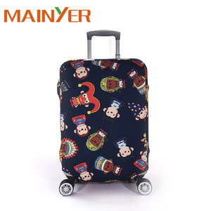 2018 alibaba export custom spandex luggage protector suitcase cover