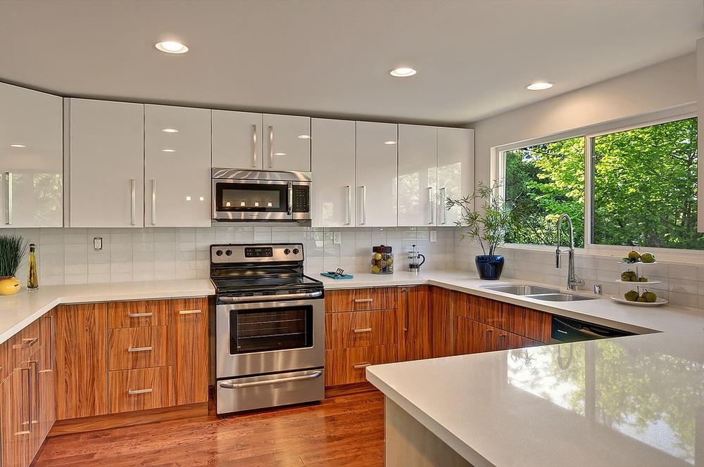 2015 Best-selling Simple Design Wood Grain Acrylic Kitchen ...