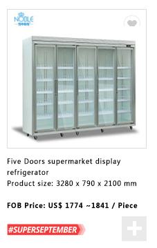 Porte coulissante en verre congélateur/réfrigérateur/refroidisseur/réfrigérateur pour la viande fraîche/boeuf/légumes/fruits/ fruits de mer