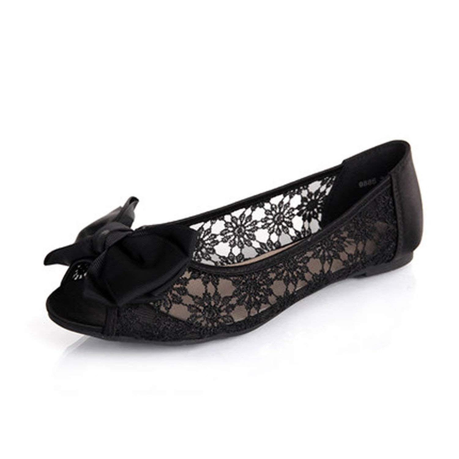 6f7adf0cb9a2b Get Quotations · Beverly Stewart Women Ballerinas Fashion Bow Pointed Toe  Slip-On Women Flats Ladies Casual Breathable