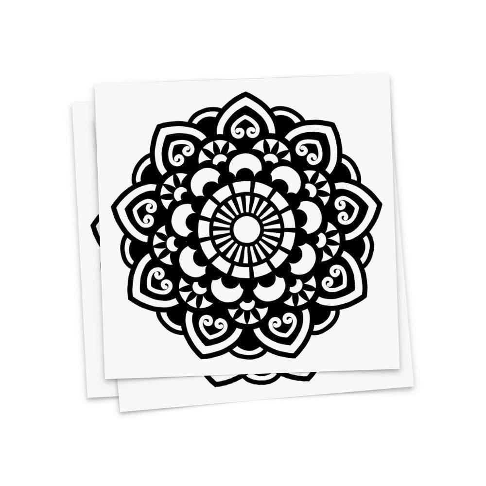 Cheap lotus mandala tattoo meaning find lotus mandala tattoo get quotations tattoo moments mandala temporary tattoos prahna circular flow mandala set of 3 tattoos izmirmasajfo