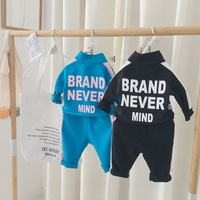 Factory wholesale autumn spring unisex baby sport clothing sets 2 piece infants tracksuit 1868