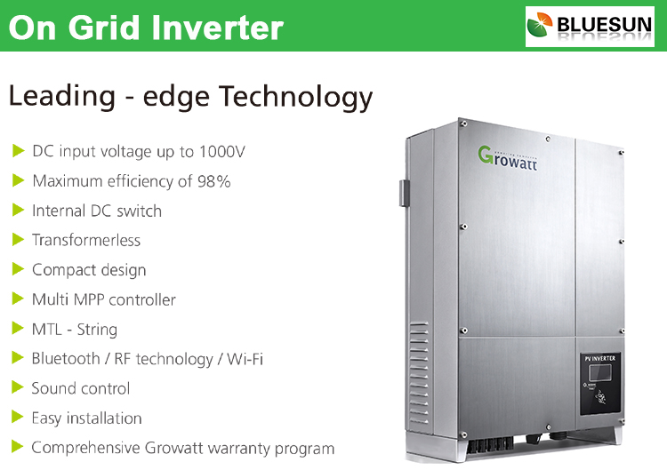 Bluesun Hot Selling 10kw Grid Tie Solar Inverter Without Battery ...