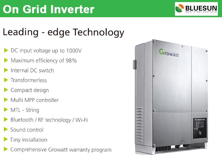 bluesun pv solar company complete set supply economic enviormental on grid 5kw solar panel system home - Home Solar Power System Design