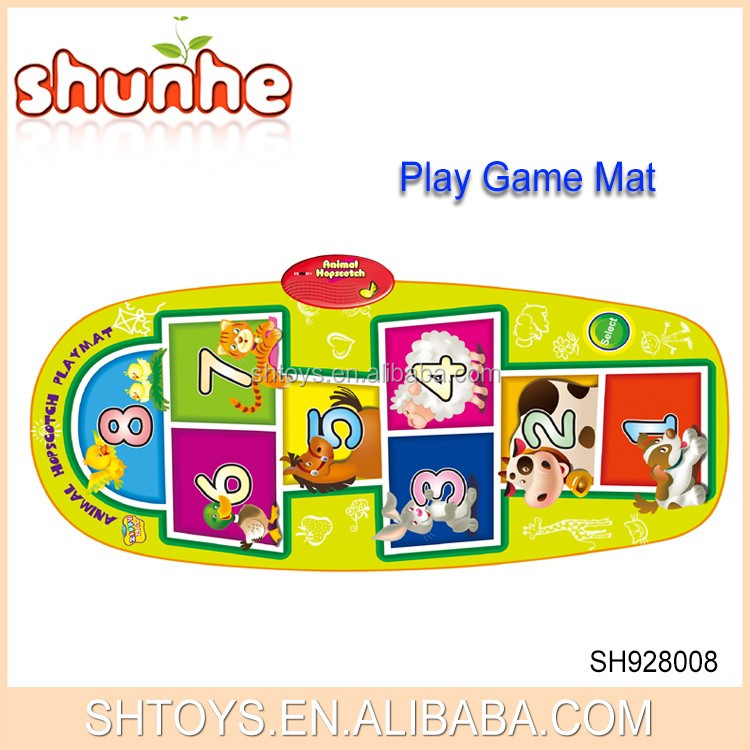 Funny electronic kids jump number play game mat
