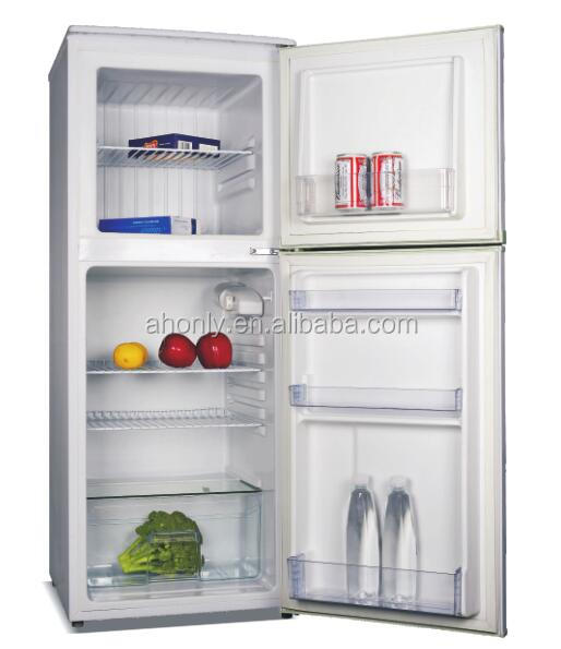 138L compact mini Double door Refrigerator and Freezer BCD-138