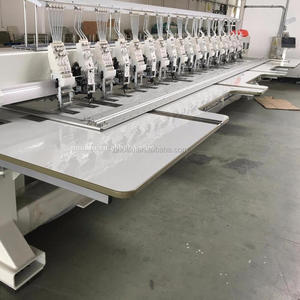 OL 610+10 Multi head cording coiling taping flat computerized cap embroidery machine for sale with price