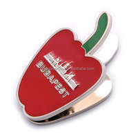 metal apple shaped souvenir budapest fruit fridge magnet