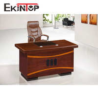 Ekintop new model wooden modern office table photo for manager