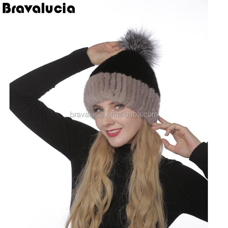 Fai DA TE grande procione Faux pelliccia pom pom Palla con premere il pulsante per lavori a maglia cappello