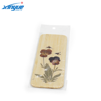 Hand Made Design Bamboo Book Mark with Flower