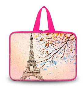 """OHS13-004 NEW Fashion Eiffel Tower 12.5"""" 13"""" 13.1"""" 13.3"""" inch Laptop Netbook Computer Tablet PC soft Neoprene Sleeve bag Case Carrying cover pouch Holder Protection with Handle For Apple Macbook Pro 13 Macbook Air 13 , SONY SD4/ThinkPad X1 L330 E330 Macbook Mid 2010/Dell Latitude E4300 D830 XPS 13"""