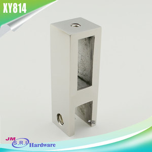 304 Stainless steel glass panel door support bar connector