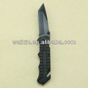 Knife with Glass Breaker And Seat Belt Cutter Survival Camping Knife