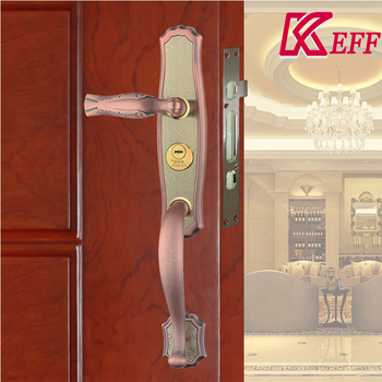 European And American Stylish Entrance Door Mortise Lever Lock Handle  Stainless Steel Factory Supply 304